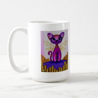 Heiress, Fantasy Anime Fairy Kitty Coffee Mug