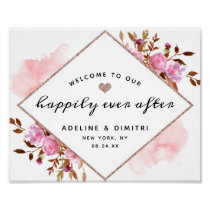 Heirloom Blush Boho Wedding Reception Welcome Sign