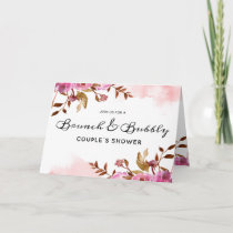 Heirloom Blush Brunch & Bubbly Couple's Shower Invitation