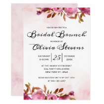Heirloom Blush Floral Boho Bridal Shower Brunch Invitation