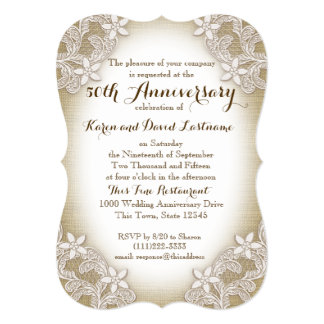 Heirloom Country 50th Wedding Anniversary Card