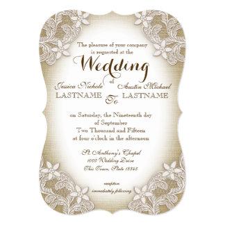 Heirloom Country Wedding Card