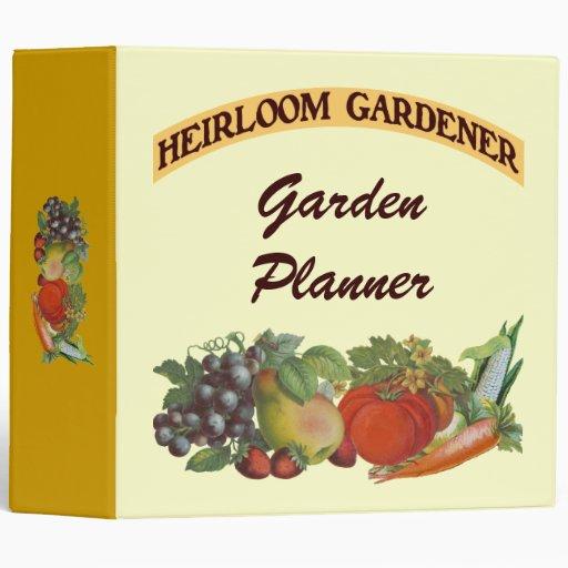 Heirloom Gardener Custom Planner Binder
