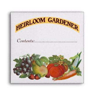 Heirloom Gardener Custom Seed Saver Envelope