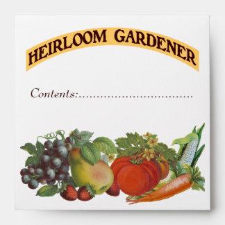Heirloom Gardener Custom Seed Saver Envelope