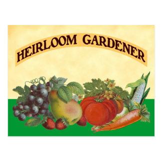 Heirloom Gardener Recipe Card Template Postcards