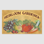 Heirloom Gardener Vintage Art Rectangular Stickers