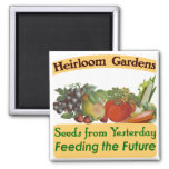 Heirloom Gardens Green Saying 2 Inch Square Magnet