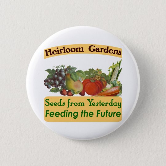 Heirloom Gardens Green Saying Button
