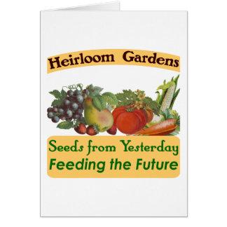 Heirloom Gardens Green Saying Card