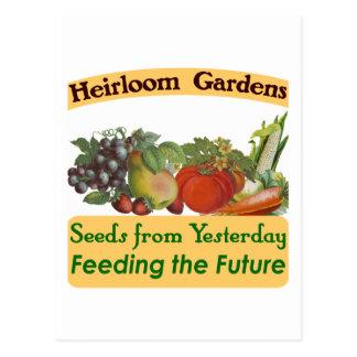 Heirloom Gardens Green Saying Postcard