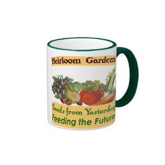 Heirloom Gardens Green Saying Ringer Mug