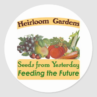 Heirloom Gardens Seed Labels Classic Round Sticker