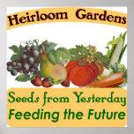 Heirloom Gardens Seed Saver Saying Poster