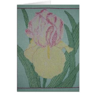 HEIRLOOM IRIS GREETING CARD