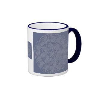 Heirloom lace on wedgewood colours mug