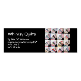 Heirloom Quilt Double-Sided Mini Business Cards (Pack Of 20)