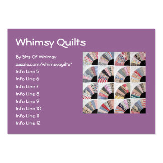 Heirloom Quilt Large Business Cards (Pack Of 100)