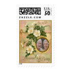Heirloom Rose 50th Anniversary Personalized Photo Postage