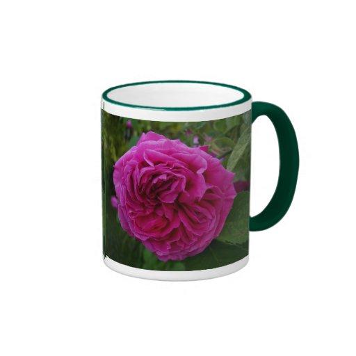 Heirloom Rose Ringer Coffee Mug