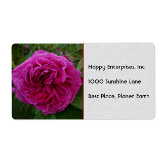 Heirloom Rose Shipping Label