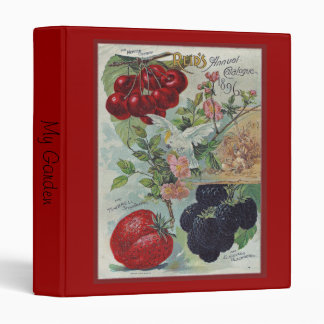 heirloom seed catalog cover 3 ring binder