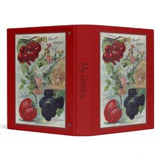 heirloom seed catalog cover zazzle_binder
