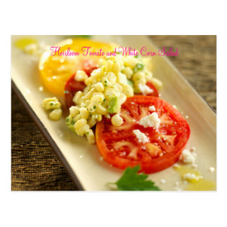 Heirloom Tomato and White Corn Salad Post Cards