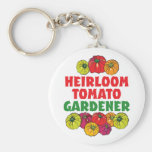 Heirloom Tomato Gardener Keychains