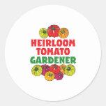 Heirloom Tomato Gardener Round Sticker