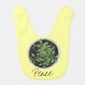 Heirloom Tomato Plant Peace Sign Baby Bib Baby Bib