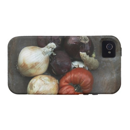 Heirloom tomato, yellow onion, red onion, ginger iPhone 4/4S case