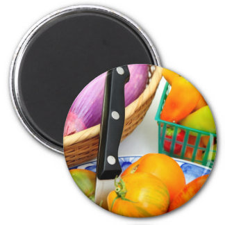 Heirloom Tomatoes And Vegetables Magnet