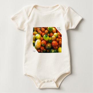 Heirloom tomatoes baby bodysuit