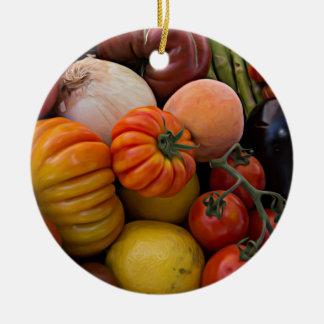 Heirloom Tomatoes Ceramic Ornament