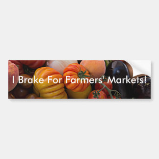 Heirloom Tomatoes I Brake for Farmers' Markets Bumper Sticker