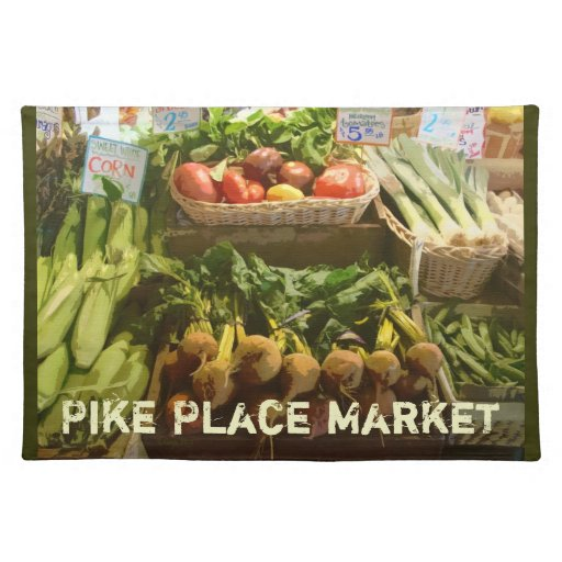 Heirloom Tomatoes- Pike Place Market Placemat Cloth Place Mat