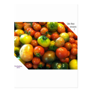 Heirloom tomatoes postcard
