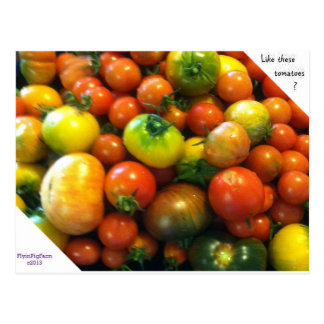 Heirloom tomatoes post card