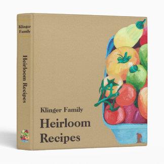 Heirloom Tomatoes Recipe Binder
