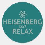Heisenberg dice se relaja etiquetas redondas