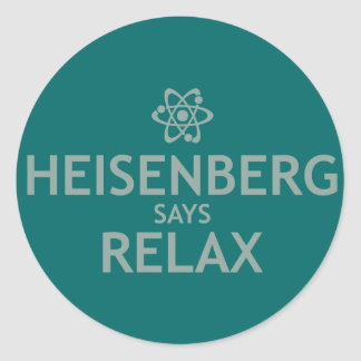 Heisenberg dice se relaja pegatina redonda
