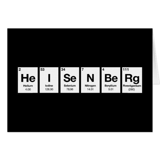 heisenberg elements science physics chemistry card
