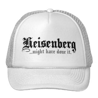 Heisenberg... Mesh Hats