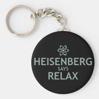 Heisenberg Says Relax Basic Round Button Keychain