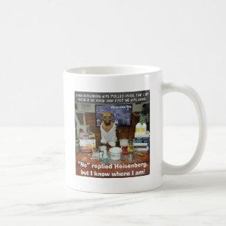 Heisenberg's Uncertainty Principle Knowledge Dog Classic White Coffee Mug