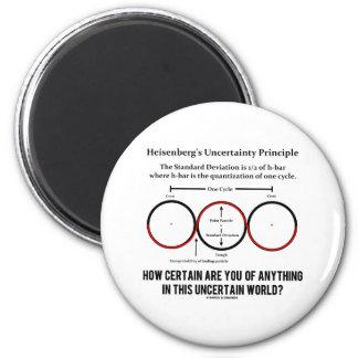 Heisenberg's Uncertainty Principle Physics Humor 2 Inch Round Magnet