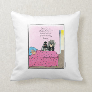 HEIST cartoon by Ellen Elliott Throw Pillow