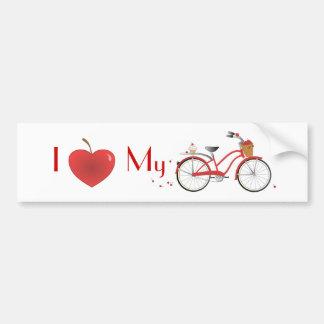 Heitres Kirschfahrrad Bumper Sticker