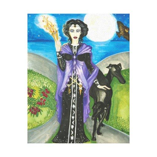 Hekate, reina griega de brujas impresión en lienzo
